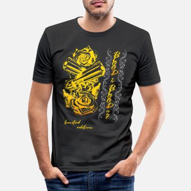 Silver Gangster revolver - Men's Slim Fit T-Shirt