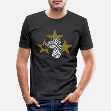 Signora zebra_on_black - Men's Slim Fit T-Shirt