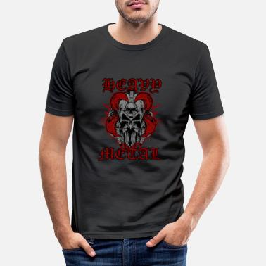 Heavy Heavy Metal - Männer Slim Fit T-Shirt