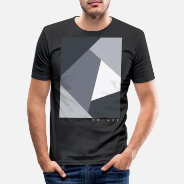Graphic Art Square Graphic - Miesten slim fit t-paita