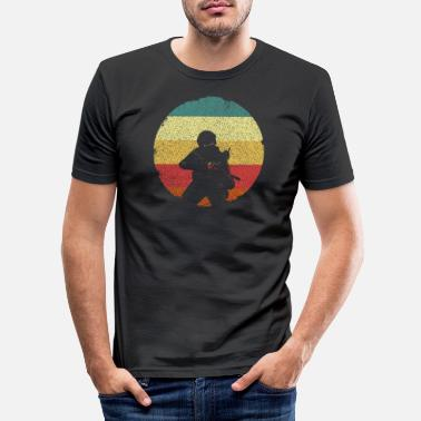 United Man with rifle soldier army special unit - Men's Slim Fit T-Shirt
