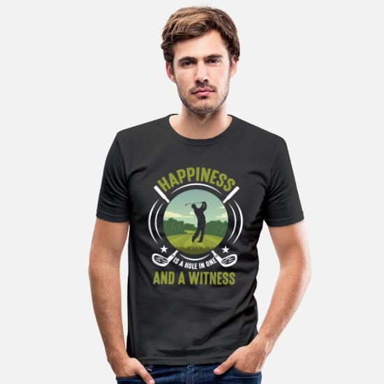 Golf T-Shirts - Golf course husband Champ playing father golf - Men's Slim Fit T-Shirt black
