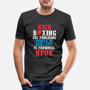 Combattant Sarcastique Kickboxer Humour Funny Boxing Fighter - T-shirt moulant Homme