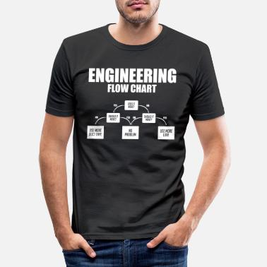Geek Funny Engineering flow chart duct tape - Men's Slim Fit T-Shirt