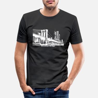 Brooklyn Bridge Brooklyn Bridge gift New York - Men's Slim Fit T-Shirt