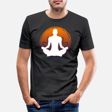 Meditation Yoga Power Logo - Männer Slim Fit T-Shirt