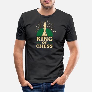 Sjakk Chess King spill - Slim fit T-skjorte for menn