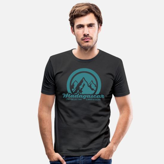Travel T-Shirts - Madagascar - Men's Slim Fit T-Shirt black
