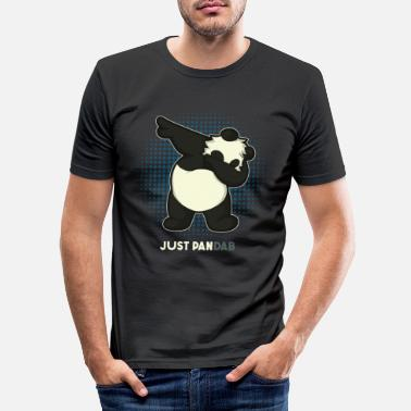Funny panda bear gift - Men's Slim Fit T-Shirt