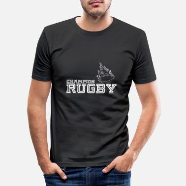 Rugby Rugby Campion - Rugby - Männer Slim Fit T-Shirt