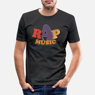 Hip Rap Musik Retro Oldschool - Männer Slim Fit T-Shirt