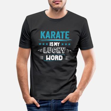Association Karate Lucky Word Sayings Funny Funny Gifts - T-shirt moulant Homme