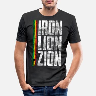 Dubstep iron lion zion ulv - Männer Slim Fit T-Shirt
