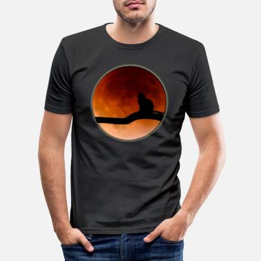 Cat Moon Moon cat. Moon Cat. gift - Men's Slim Fit T-Shirt