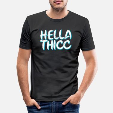 Afro Hella Thicc - Men's Slim Fit T-Shirt