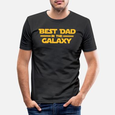 Dad Best Dad in the Galaxy - T-shirt moulant Homme