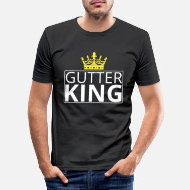 Gutter Gutter King - Men's Slim Fit T-Shirt