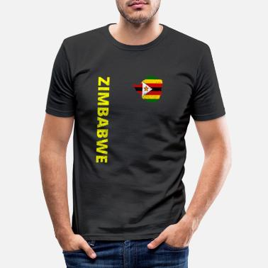 Zimbabwe Zimbabwe - Slim fit T-skjorte for menn