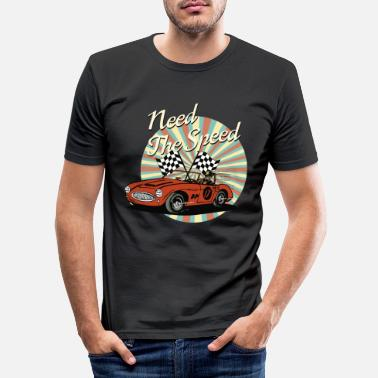 Voiture Ancienne Voiture ancienne - Need The Speed - T-shirt moulant Homme
