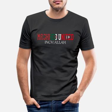 United Maghreb United Inch´allah - Männer Slim Fit T-Shirt