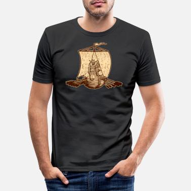Viking Middle Ages Thor Ship Boat Sailing Oars - Slim fit T-shirt mænd