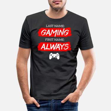 Gamer Sklave Gaming Gamer Game Zocken Zocker Videogames Online - Männer Slim Fit T-Shirt