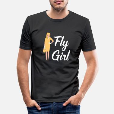 Valigia T-Shirt Assistente di volo e regali hostess - Maglietta slim fit uomo