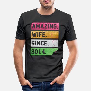 Mari T-shirt depuis 2014 pour Homme Drôle Mariage Anniversaire Pères Saint Valentin