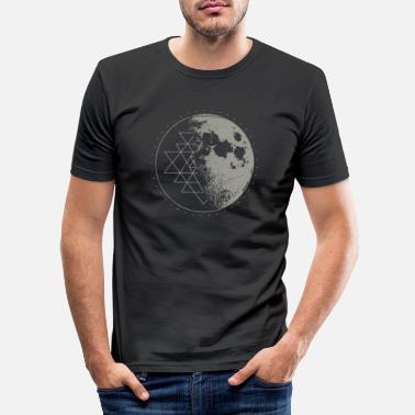 Sacred Sacred Geometry Sri Yantra Moon - Psychedelic - Men's Slim Fit T-Shirt