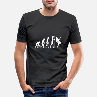 Guitarist Evolution guitar guitarist gift idea - Men's Slim Fit T-Shirt