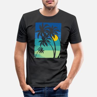 Palm Trees Palm, palm trees - Men's Slim Fit T-Shirt
