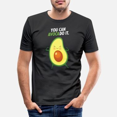 Bold You Can AvocaDo It! - Men's Slim Fit T-Shirt