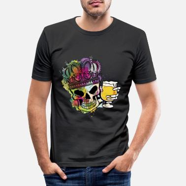 Assozial Craft Beer Skeleton Hops Kuningas Halloween Assozial - Miesten slim fit t-paita