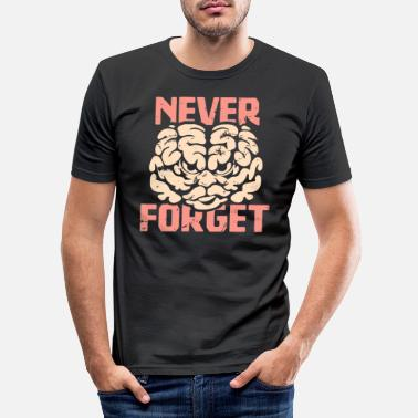 Never Forget Never forget - T-shirt slim fit herr