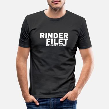 Filet Rinder Filet - Männer Slim Fit T-Shirt