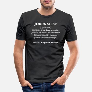 Bild Journalist - wizard - Männer Slim Fit T-Shirt