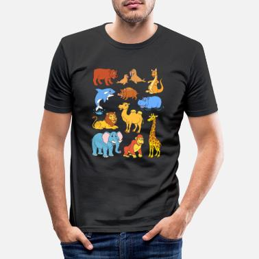 Tier Wilde Tiere - Männer Slim Fit T-Shirt