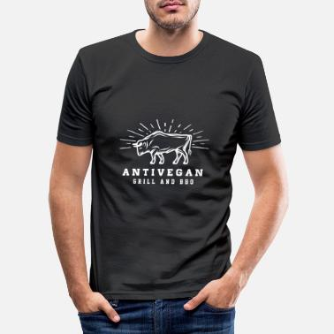 Bbq BBQ BBQ - Men's Slim Fit T-Shirt