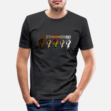 Together We Rise - Black Lives Matter T Shirt - Men's Slim Fit T-Shirt