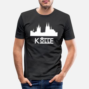 Køln Køln skyline - Slim fit T-shirt mænd