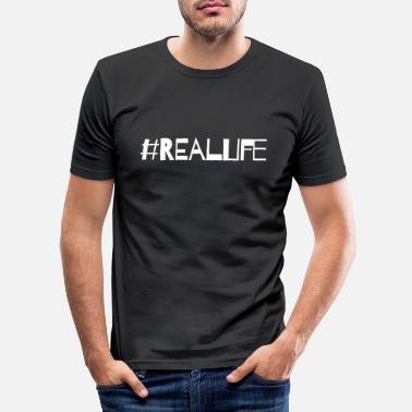 Real Life Real Life - Mannen slim fit T-shirt