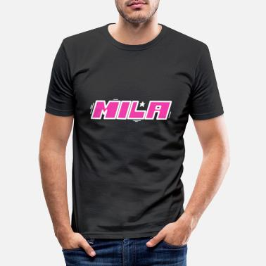 First Name Mila first name name - Men's Slim Fit T-Shirt