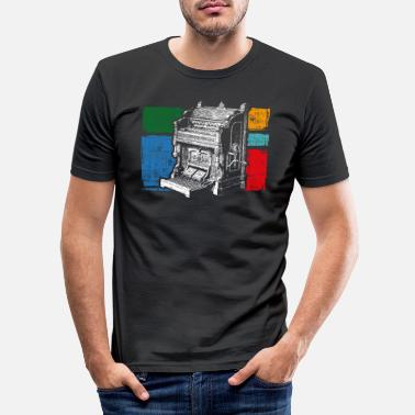 Orgel orgel - Mannen slim fit T-shirt