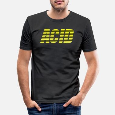 Acid Rap acid house techno - Mannen slim fit T-shirt