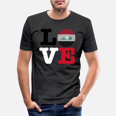 Irak IRAK HEART - Men's Slim Fit T-Shirt