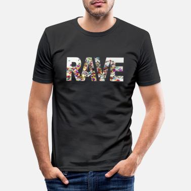Raver Rave - Männer Slim Fit T-Shirt
