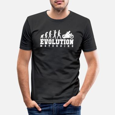 motorcycle evolution - Men's Slim Fit T-Shirt