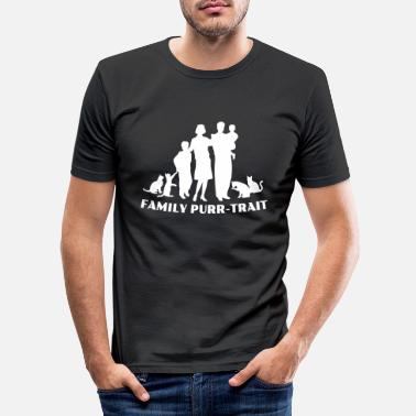 Traits Family Purr Trait - Männer Slim Fit T-Shirt