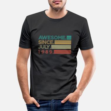 1989 Awesome since july 1989 Geschenk - Miesten slim fit t-paita