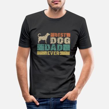 Best Dog Dad Ever Best Dog Dad ever Vater Spruch Geschenk - Camiseta ajustada hombre
